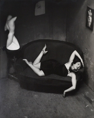 "<em>Satiric Dancer, Paris</em>, 1926, printed 1980</br>Gelatin silver print</br>Image: 13 5/8"" x 10 3/4""; Paper: 13 7/8 x 11"""
