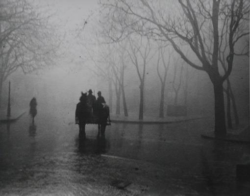"<em>Hazy Day, Budapest</em>, 1920, printed later<br>Gelatin silver print</br>Image: 7 7/8 x 9 7/8""; Paper: 8 x 10"""