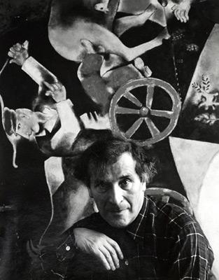 """<em>Marc Chagall,</em>1941<br />Gelatin silver print<br />Image: 12 11/16 x 10 1/16""""; Paper: 13 15/16 x 10 7/8"""""""