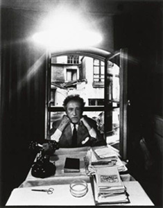 "<em>Jean Cocteau</em>1960<br />Gelatin silver print<br />Image Size: 11 x 14"""