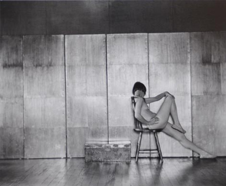 "<em>Nude (Margrethe),</em> 1923, printed later by Cole Weston<br />Gelatin silver print<br />Image: 7 3/8 x 8 7/8""; Mount: 13 1/4 x 15"""