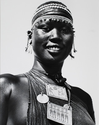 <em>Untitled (African Woman with Necklace)</em><br />Gelatin silver print<br />Image: 20 x 16 1/16""
