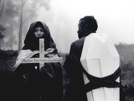"<em>Fallecio Maria Veronica, Eduador (Maria Veronica is Dead, Tixan, Mexico),</em> 1938, Printed 1988<br />Gelatin silver print<br />Image: 13 3/4 x 18""; Mount: 16 x 20"""