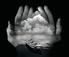 <em>Untitled (Hands holding clouds and boat)</em>, 1996<br>Gelatin sliver print