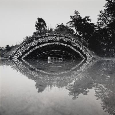 "<em>Midden Sculpture by John Roloff and Heather McGill Elkhorn Slough, California,</em>1989<br />Gelatin silver print<br />Image: 8 x 8; Mount: 16 x 14 1/4"""