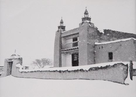 """<em>Church of Santo Tomas; Las Trampas, New Mexico,</em>1980<br />Gelatin silver print<BR />Image/Paper: 4 3/8 x 6"""""""