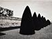 "Michael Kenna<br><em>Atgets Bushes, Study 2, Parc St. Cloud, Paris</em>, 1988, printed 1992</br>Sepia toned gelatin silver print<br>Image: 6 1/2 x 9""; Mount: 16 x 20"""