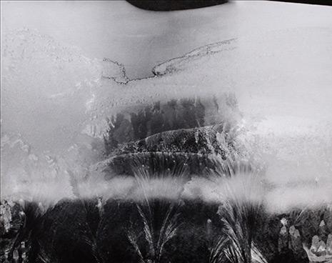 Minor White<br><em>Untitled (Frozen Ice Formations)</em>, 1958</br>Vintage gelatin silver print