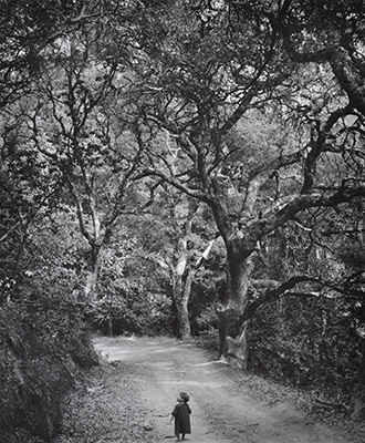 "<em>Child on Forest Road</em>, 1958<br>Vintage gelatin silver print</br>Image: 8 3/4 x 7 1/4""; Mount: 15 x 13 1/2"""
